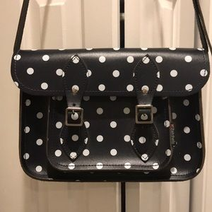 Navy Polka Dot Zatchels Satchel